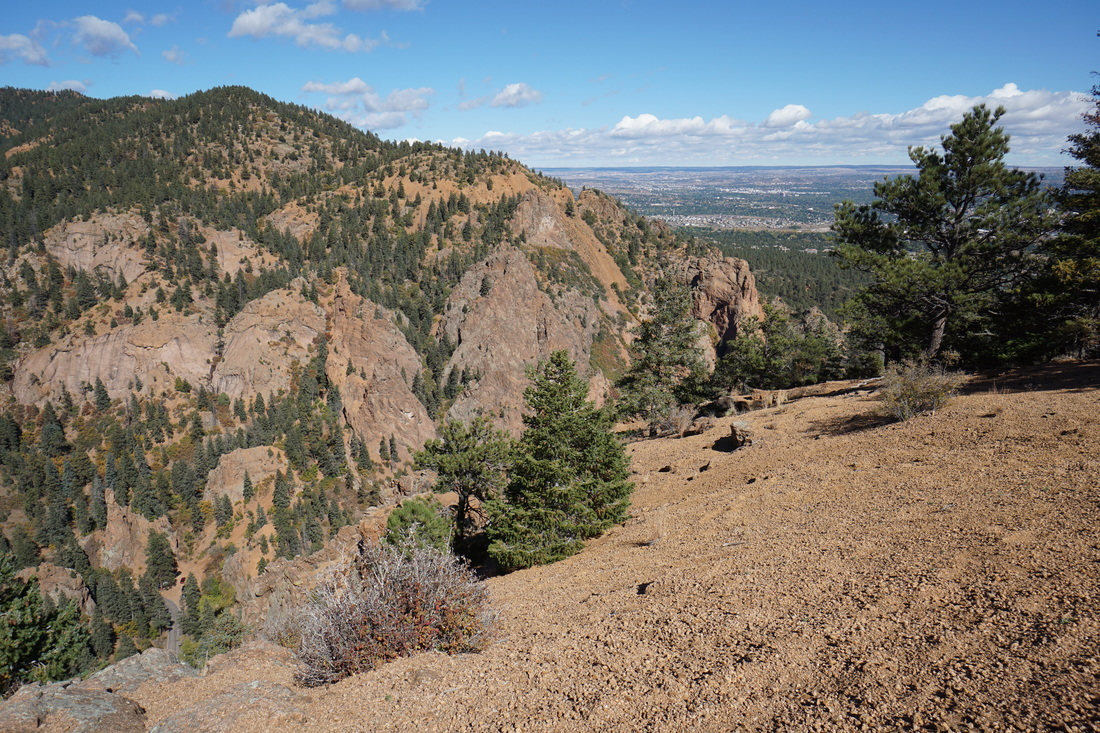 Mt cutler trail go hike colorado i recommend following the ridge line downhill for a few minutes to get better views of the eastern terminus of n cheyenne canyon but be careful here publicscrutiny Images